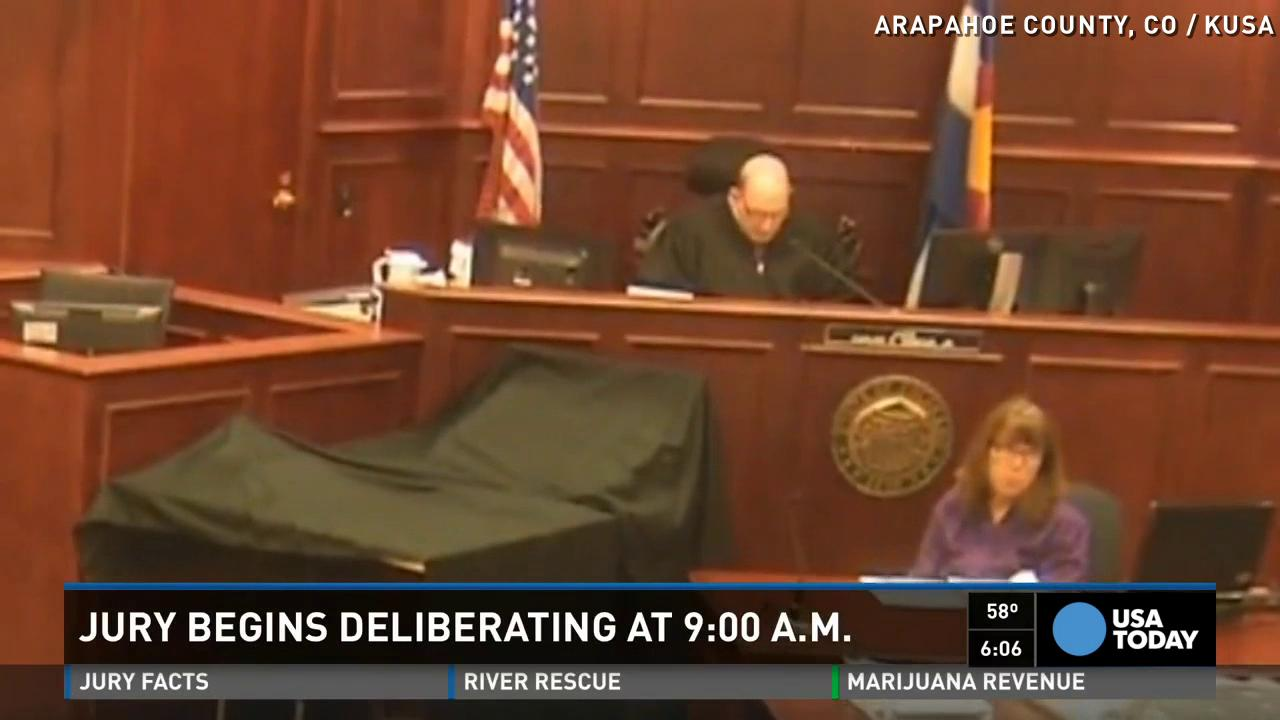 Theater trial jury finishes day one of deliberation