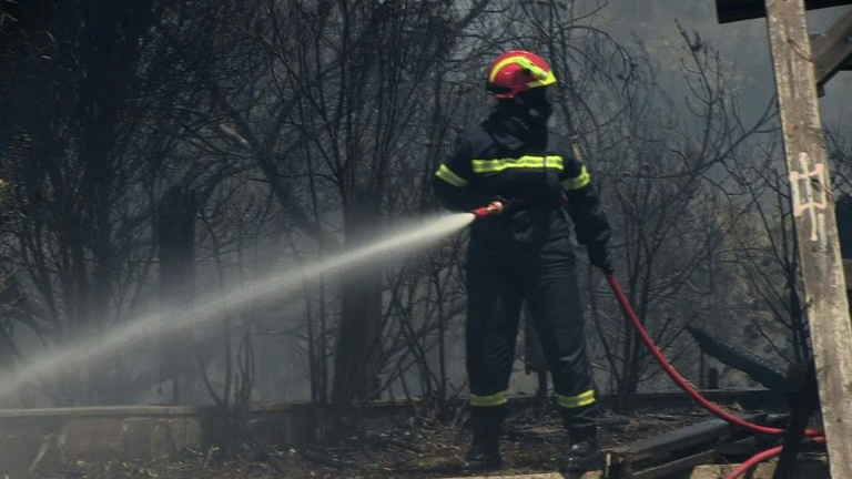 Greece battles wildfires in Athens, Peloponnese