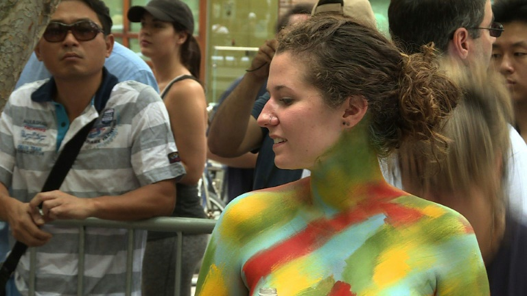 Body painting day not just about naked human canvas