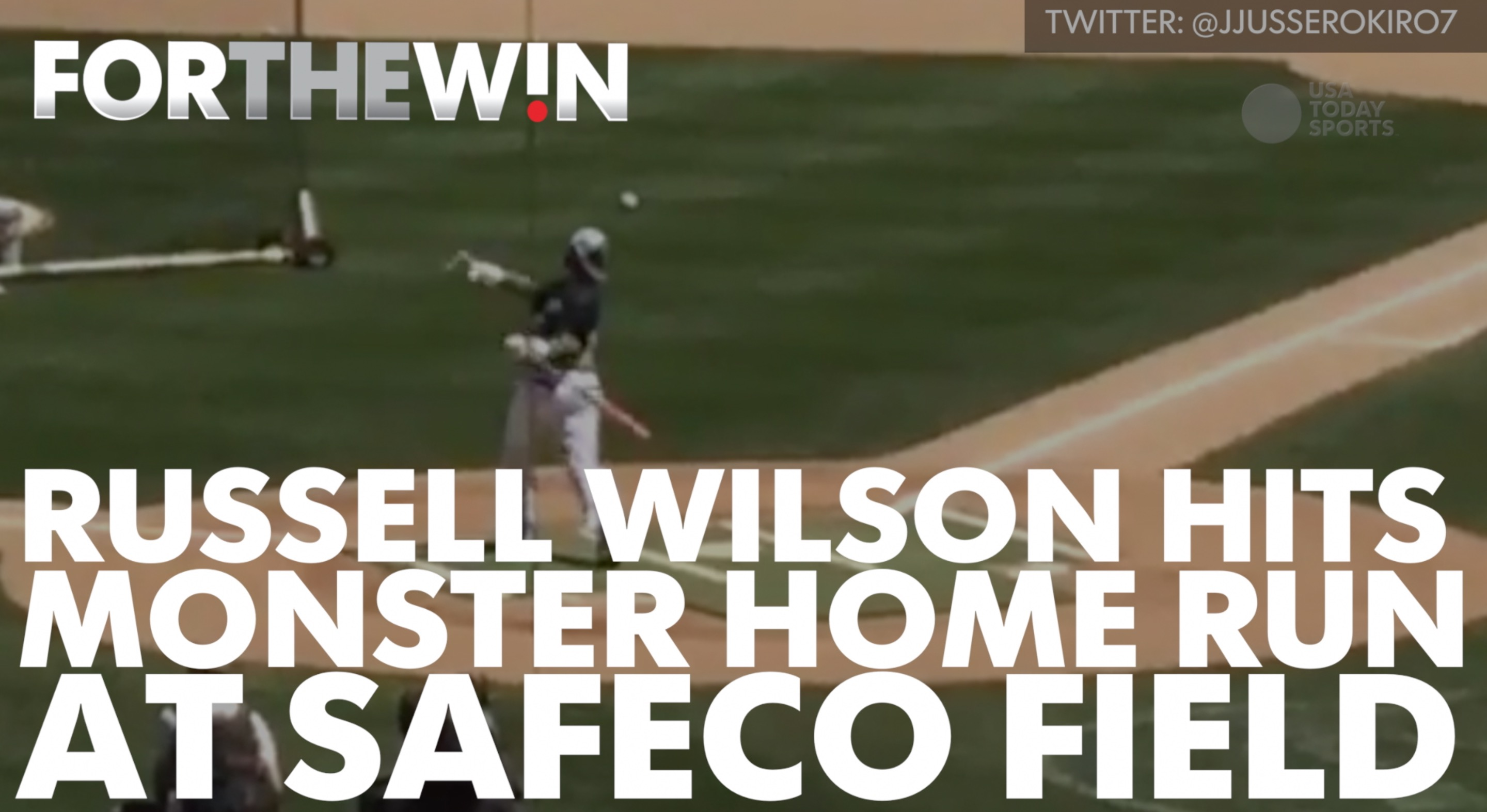 Russell Wilson hit a monster HR at charity game