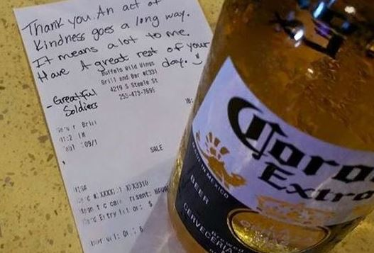Beer for fallen soldier inspires acts of kindness