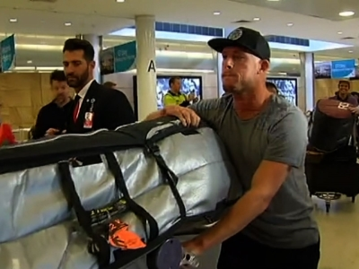 Raw: Surfer Struck By Shark Arrives In Australia