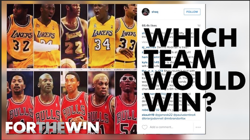 Shaq's Lakers vs. Scottie's Bulls: Who would win?