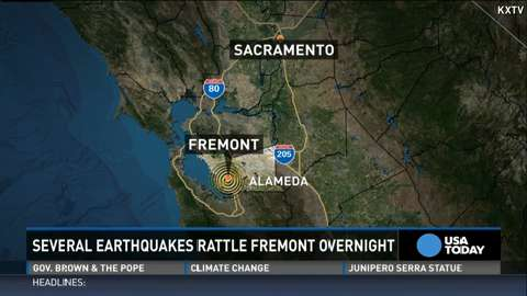 The U.S. Geological Survey said a 4.0-magnitude earthquake rattled the San Francisco Bay Area before dawn Tuesday. No damage or injuries were immediately reported. This comes less than a year after a deadly 6.0-magnitude quake hit South Napa.