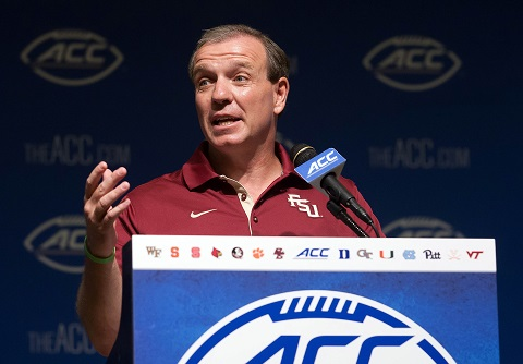 Jimbo Fisher takes a stand at ACC Media Days