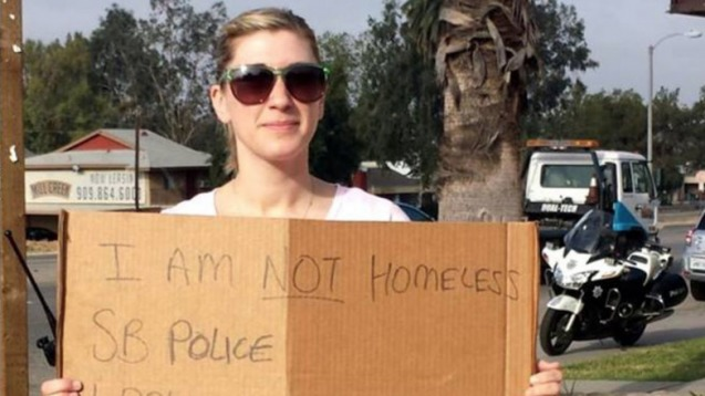 Cops pose as panhandlers to catch distracted drivers