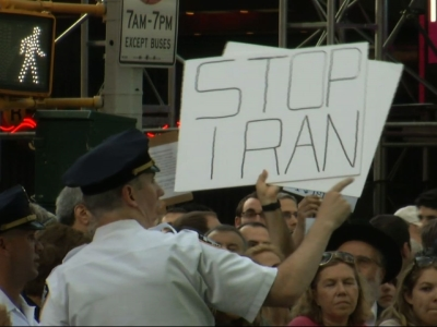 Raw: Iran deal triggers Times Square protest