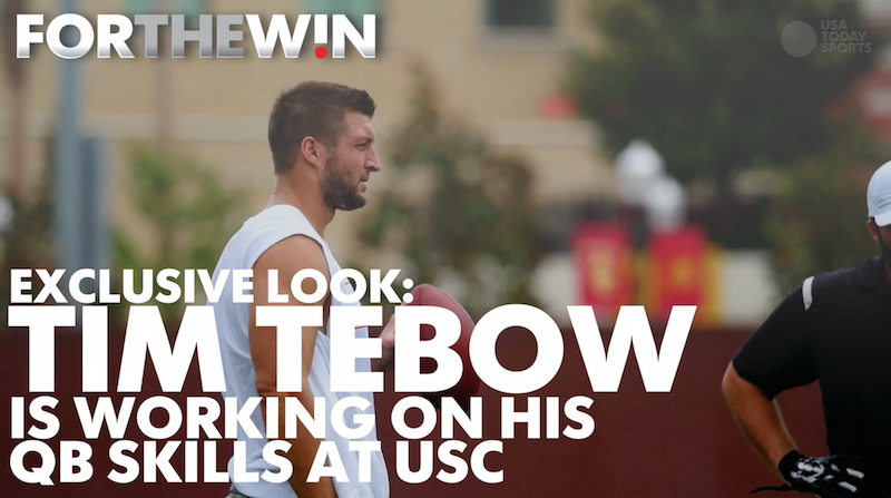 Exclusive: Behind the scenes of Tim Tebow's preseason workouts