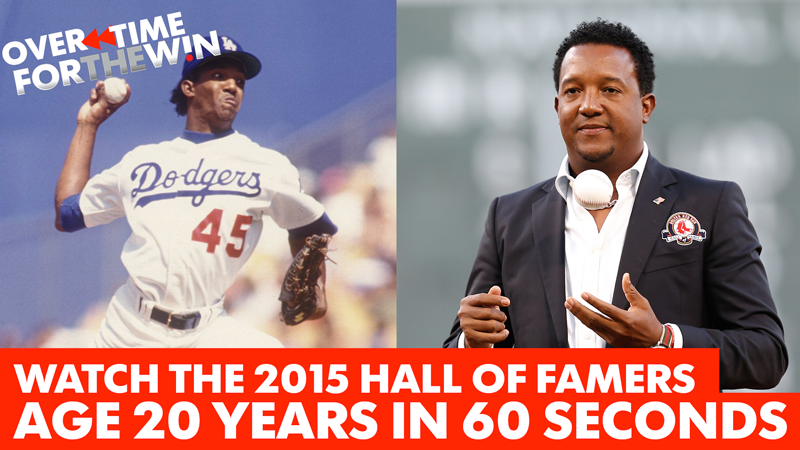 Watch Baseball Hall of Famers age 20 years in 60 seconds