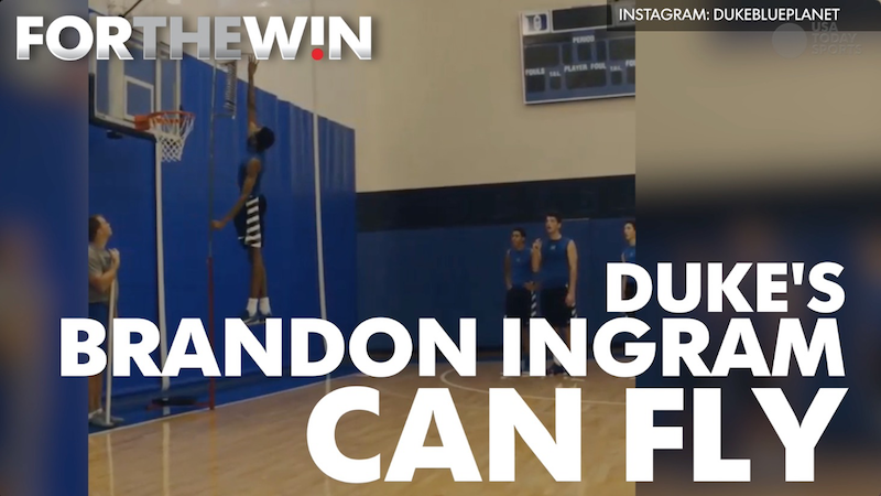 Duke freshman has an insane vertical leap
