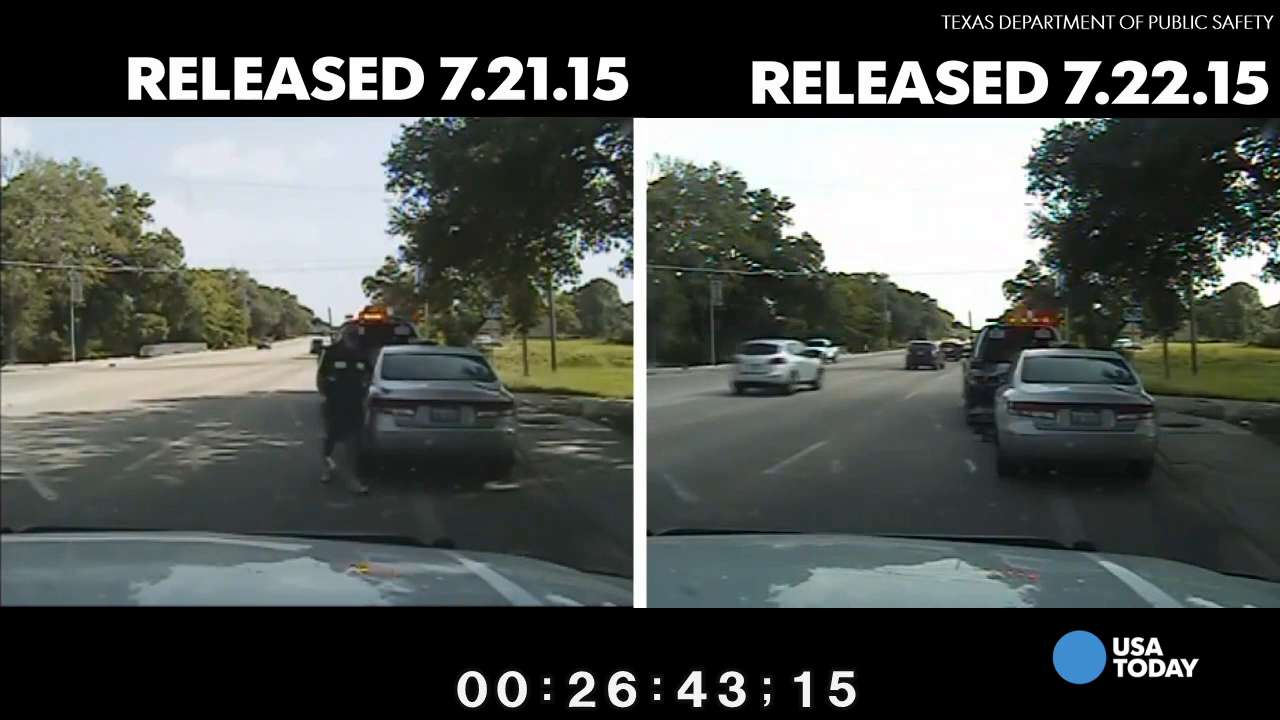 See differences in Sandra Bland arrest dashcam videos