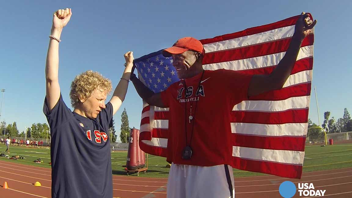 Special Olympian shares experience with family and coaches
