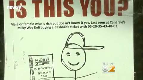 Stick-figure sketch seeks silent $7M N.Y. lottery winner