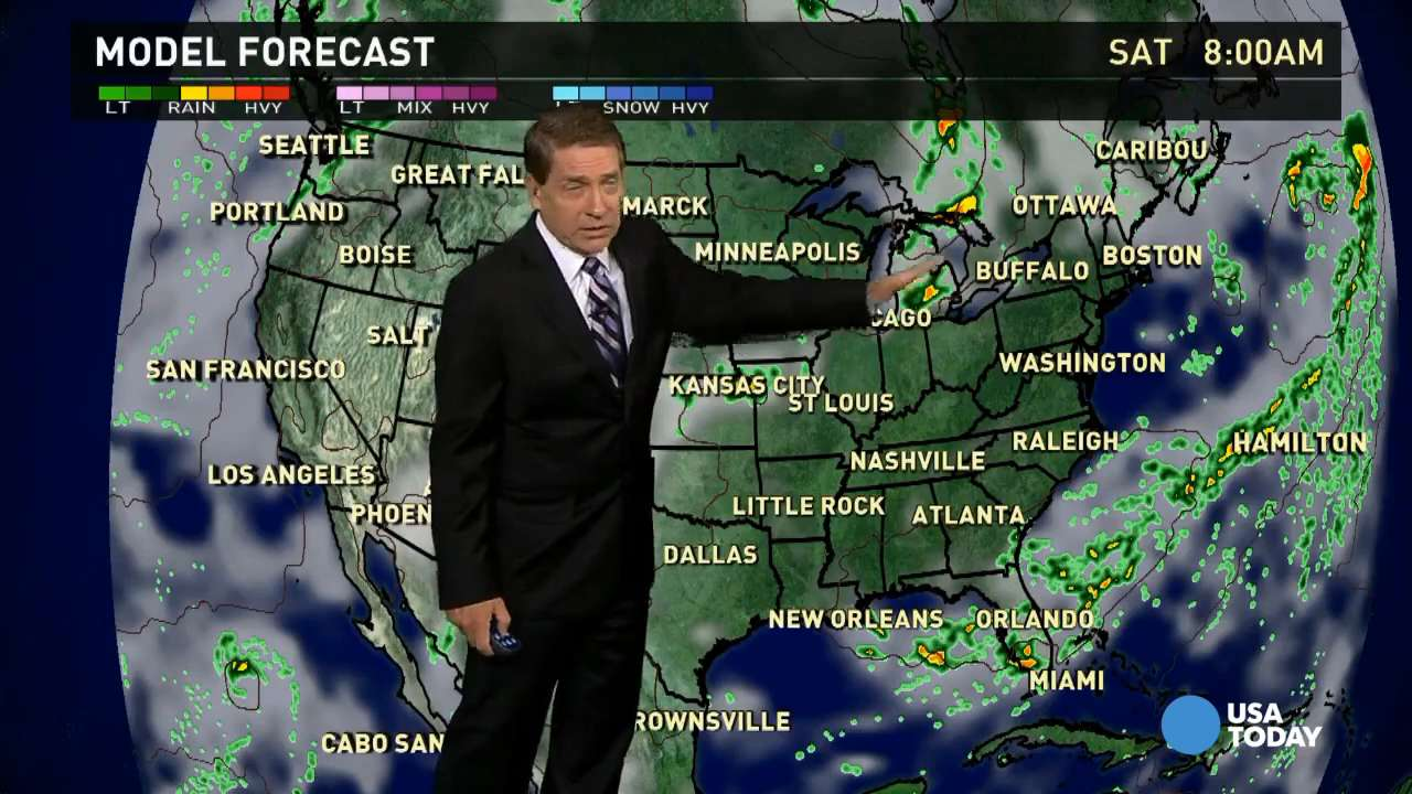 Friday's forecast: Front still affecting Southeast