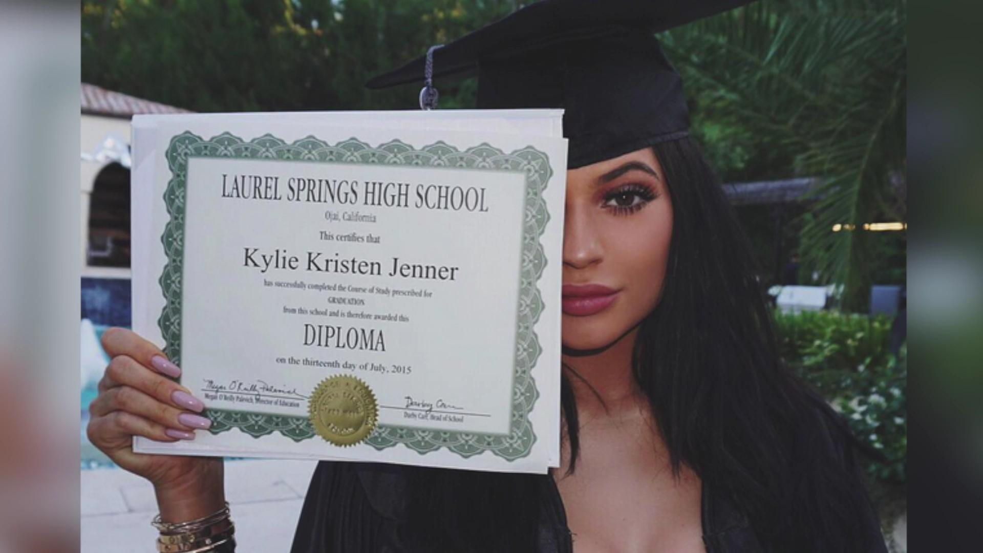 Kylie Jenner graduates high school