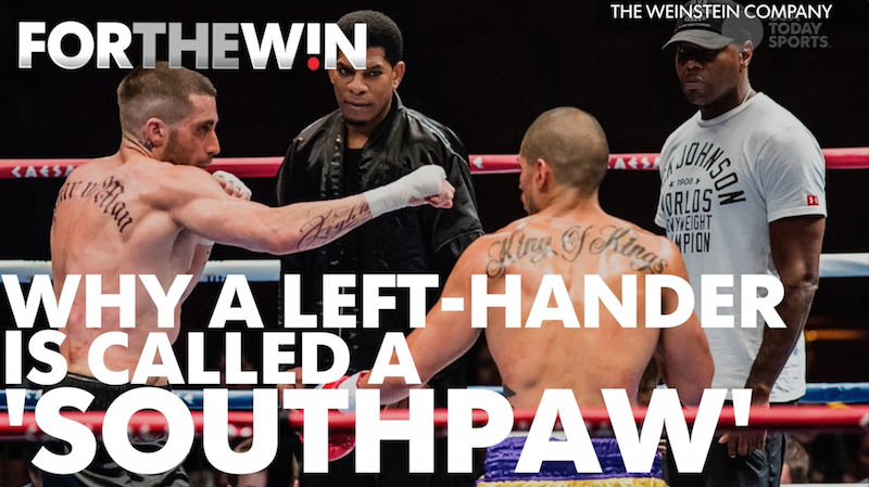 Why is a lefty called a 'southpaw?'