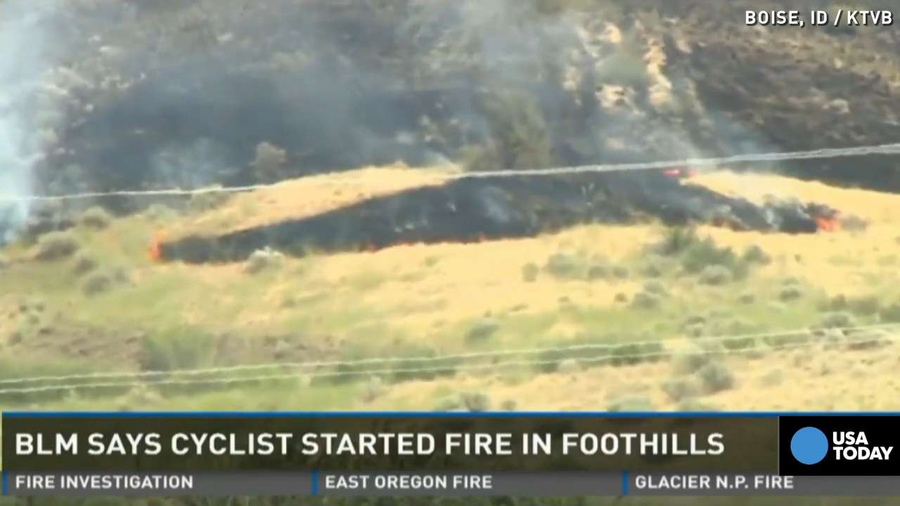 Pooping cyclist tries to burn waste, starts wildfire