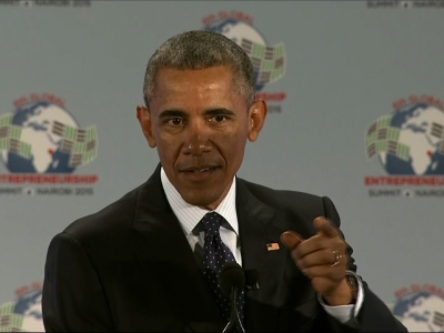 Opening Kenya Trip, Obama Supports Enterpreneurs