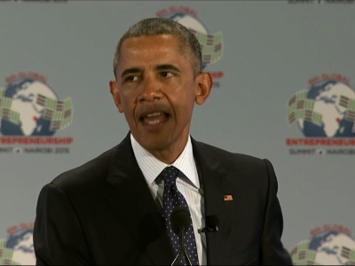 Opening Kenya Trip, Obama Supports Entrepreneurs