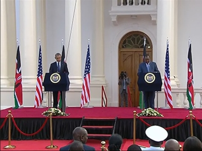 Obama, Kenyan President Disagree on Gay Rights
