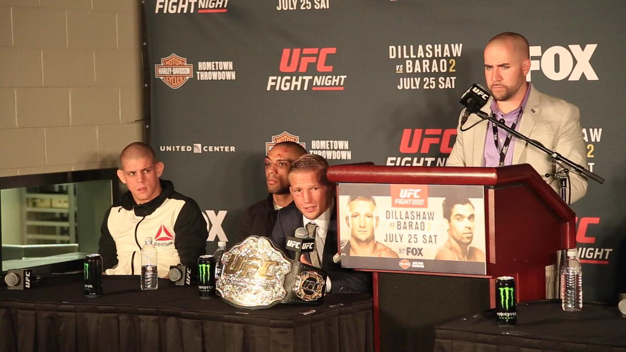 Dana White, T.J. Dillashaw discuss Dillashaw's dominant title defense vs. Renan Barao