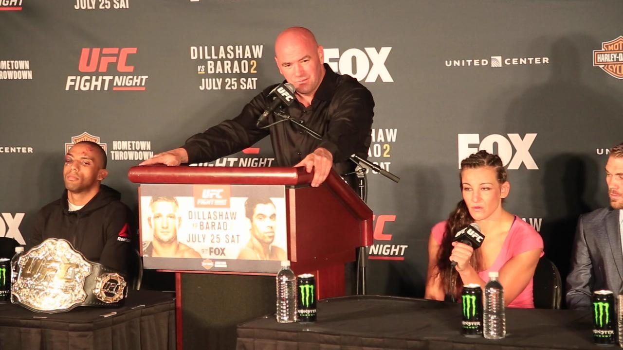 Dana White says Miesha Tate has 'worked her way back to Ronda Rousey'