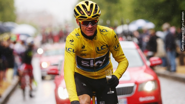 Britain's Chris Froome wins second tour De France
