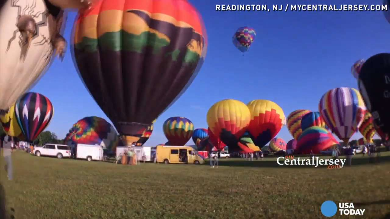 Watch hot air balloons take to the skies in 30 seconds