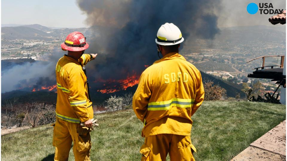 Firefighters make progress against California wildfires