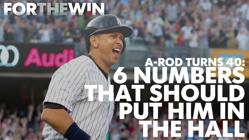 A-Rod at 40: Six numbers that prove he's a Hall of Famer