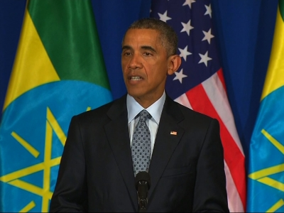 Obama makes historic visit to Ethiopia