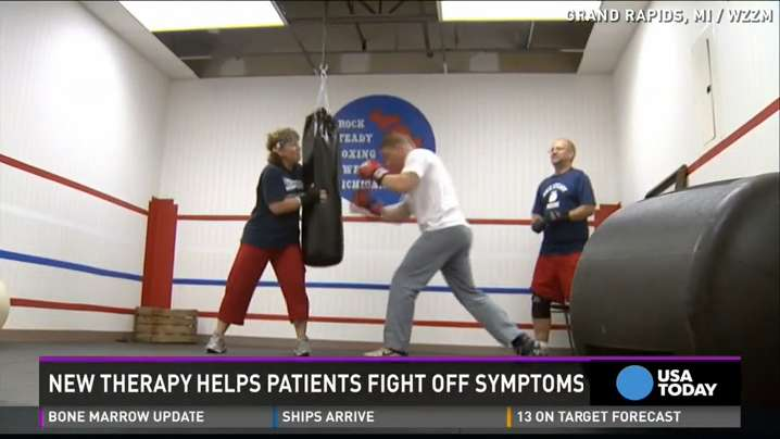 Patients use boxing to fight Parkinson's disease