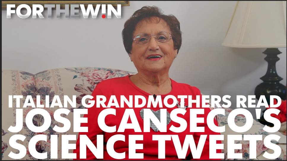 Italian grandmothers read Jose Canseco science tweets