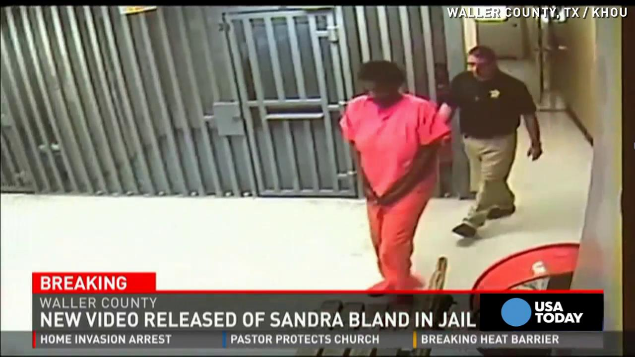 New Sandra Bland video shows her alive during mugshot