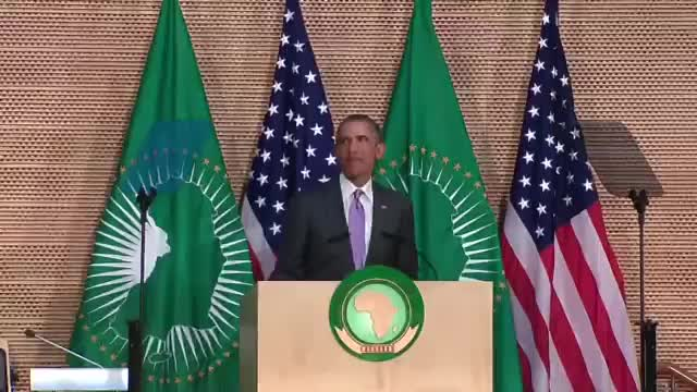 President Obama speaks to the people of Africa