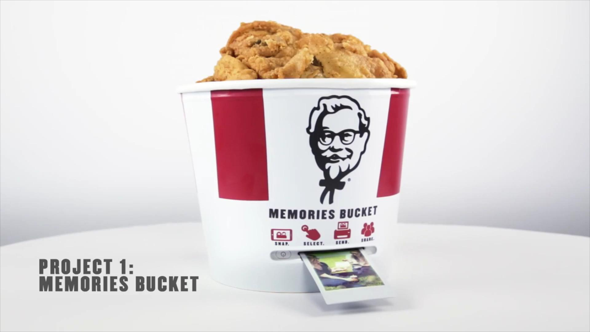 KFC bucket of chicken now doubles as a printer