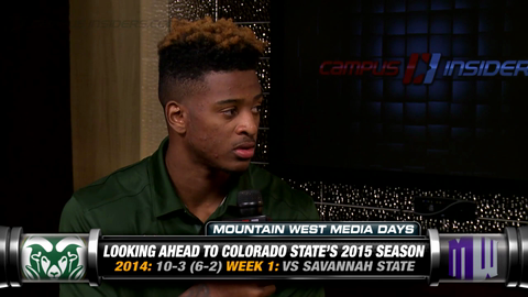 Colorado State's Rashard Higgins Shows Off His Microwave Popcorn