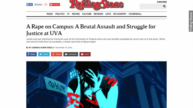 'A Rape on Campus' still causing trouble for Rolling Stone