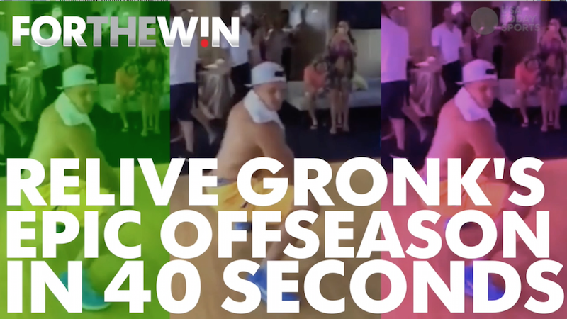 Relive Gronk's offseason of twerking and spiking things in 40 seconds