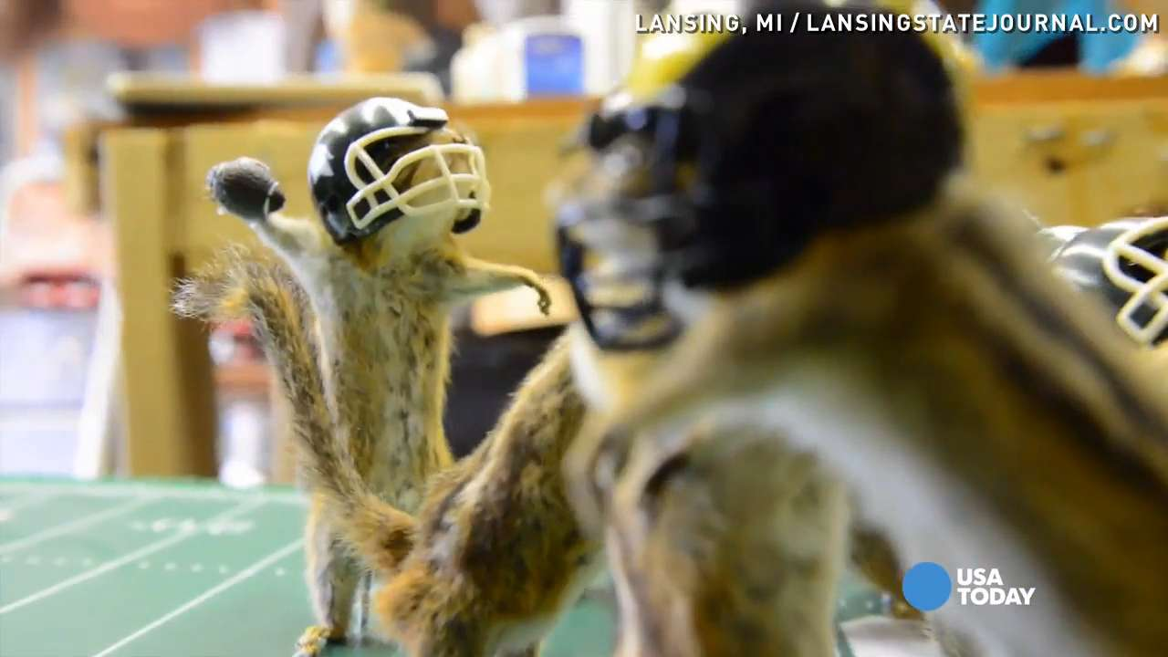 This miniature football game is a little nutty