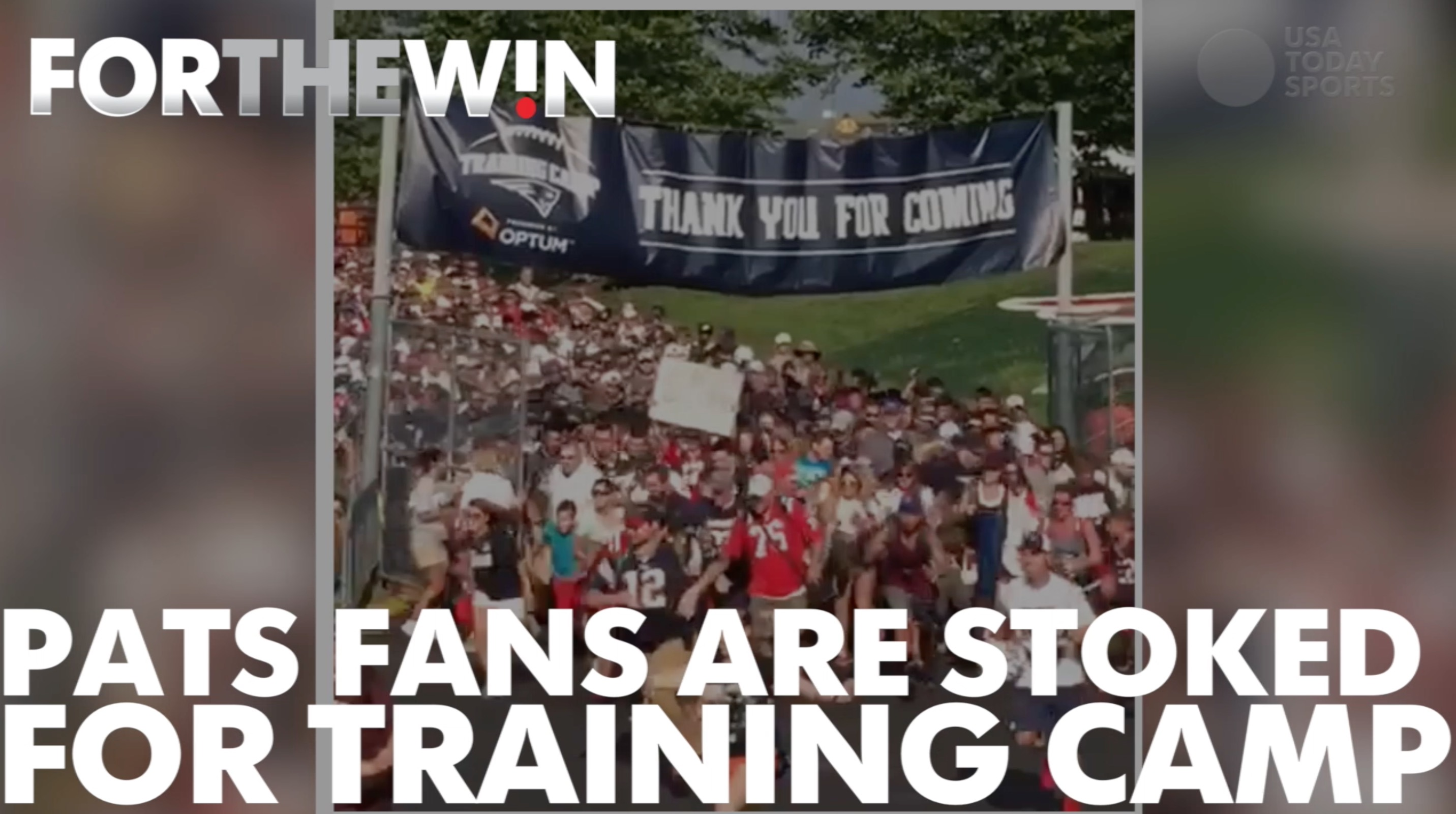Patriots fans are stoked for training camp