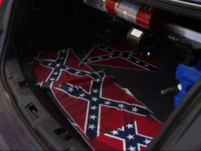 Confederate flags placed outside MLK's GA church