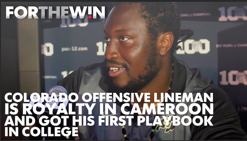 Colorado offensive lineman is royalty in Cameroon, got first playbook in college