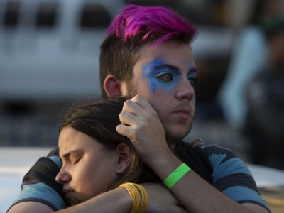 Photographer witnesses gay parade stabbing