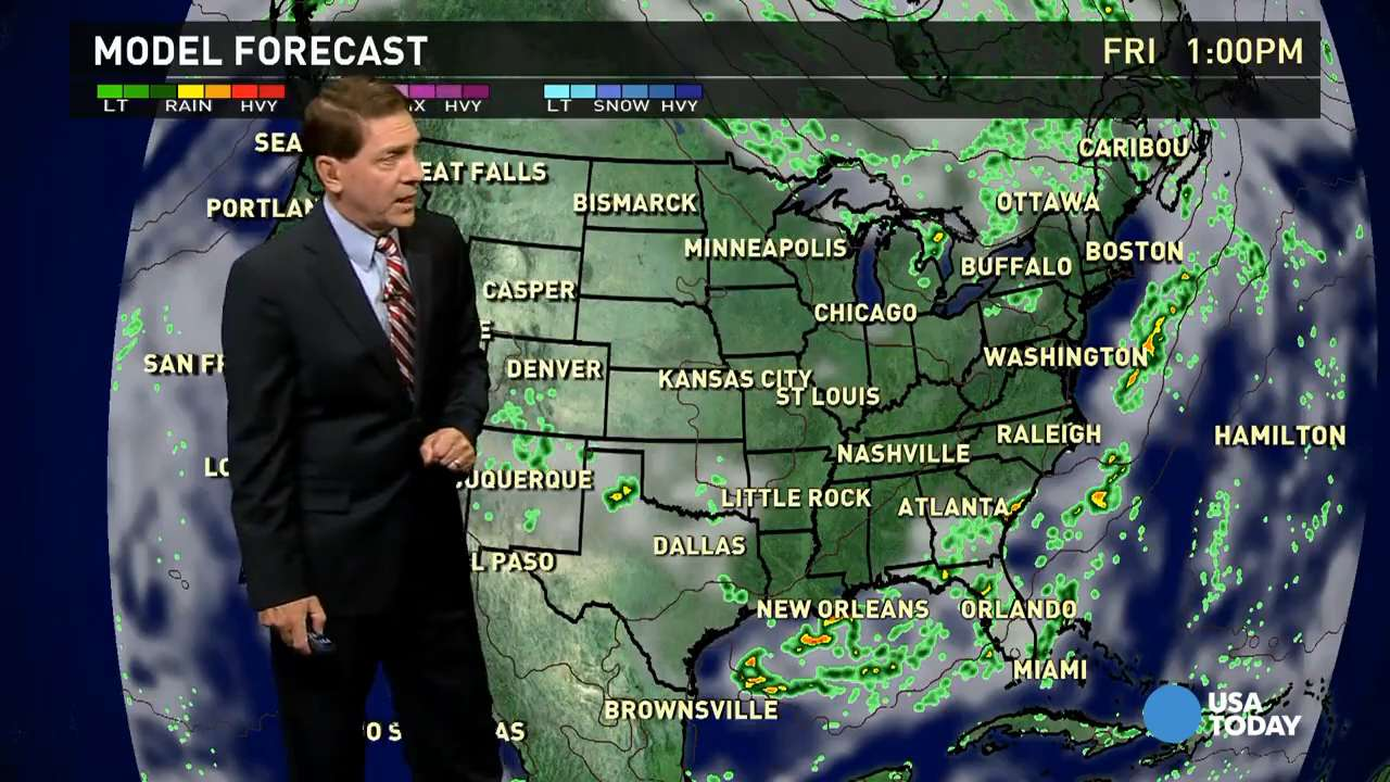 Friday's forecast: Cold front lingers in Southeast