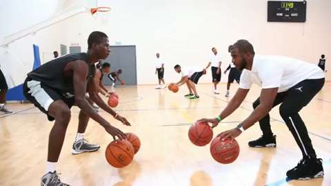 Clippers guard Chris Paul is one of 20 NBA stars who wil play exhibition games in Johannesburg — the first NBA game of any kind in Africa.