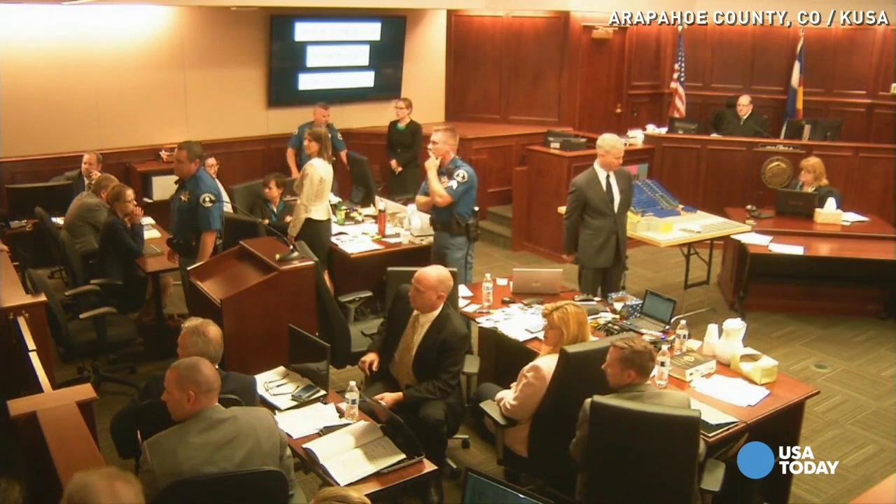 Woman in James Holmes courtroom yells 'Don't kill him!'