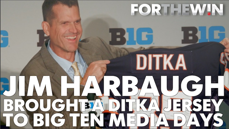 Jim Harbaugh brought a Ditka jersey to Big Ten Media Days