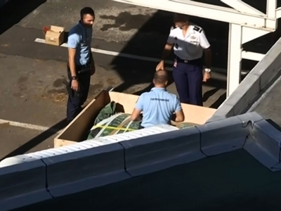 Raw: Plane Debris Packed for Transport to France
