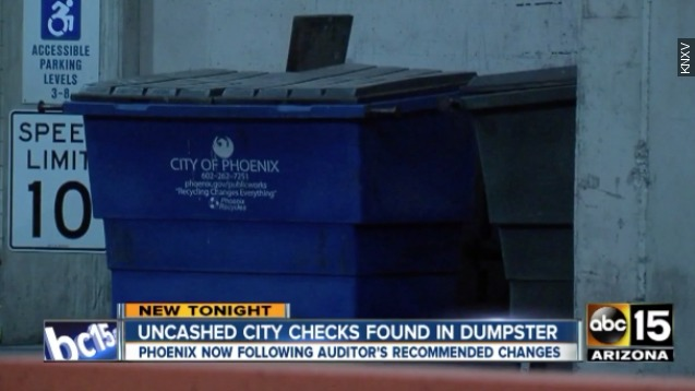 City threw away uncashed checks totaling more than $90,000
